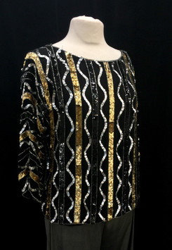 Chest 42 Large - black silver and gold b