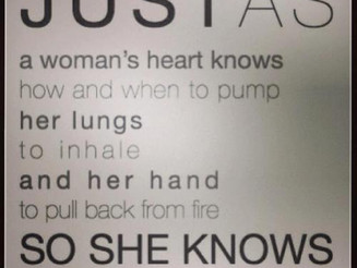 A Woman Knows How To Birth. . .