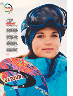 People magazine with Ariel Gold