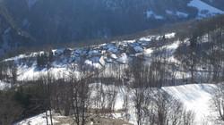 En hiver vue sur le village