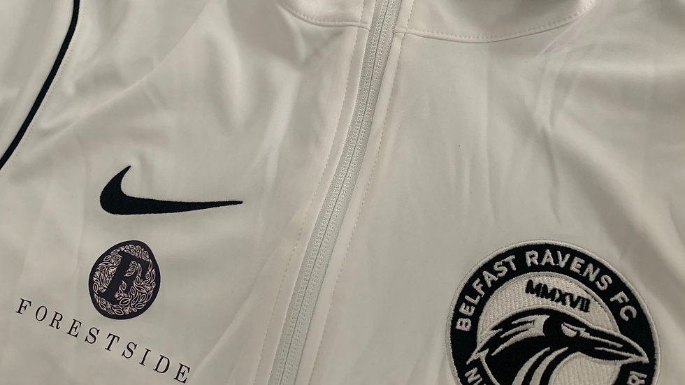 Belfast Ravens white Nike zip up trackie top