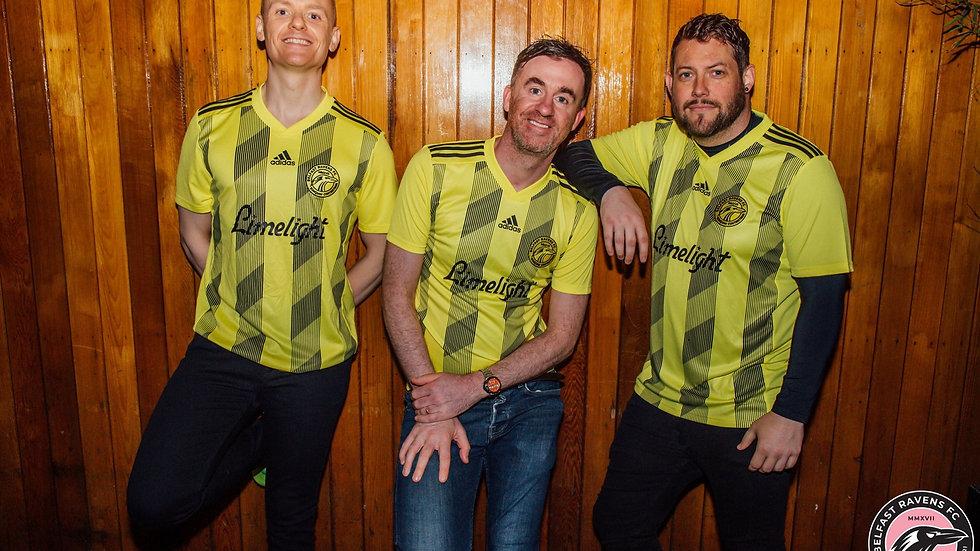 Belfast Ravens yellow change shirt (kids & adult sizes)