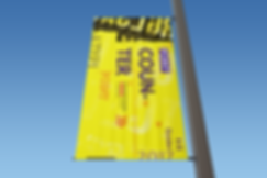 Rectangle Lamp Post Banner Mock-Up 01 (F