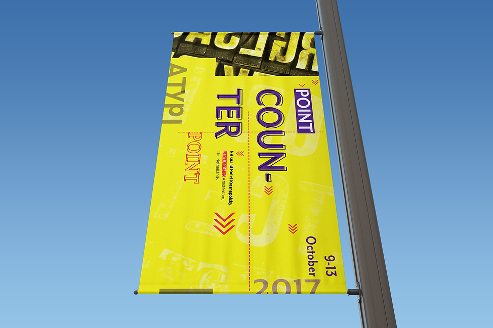 Rectangle Lamp Post Banner Mock-Up 01 (F