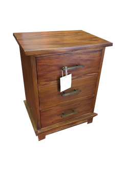 contempo 3 drawer bedside