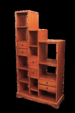 Surabaya Step Bookcase Rustic