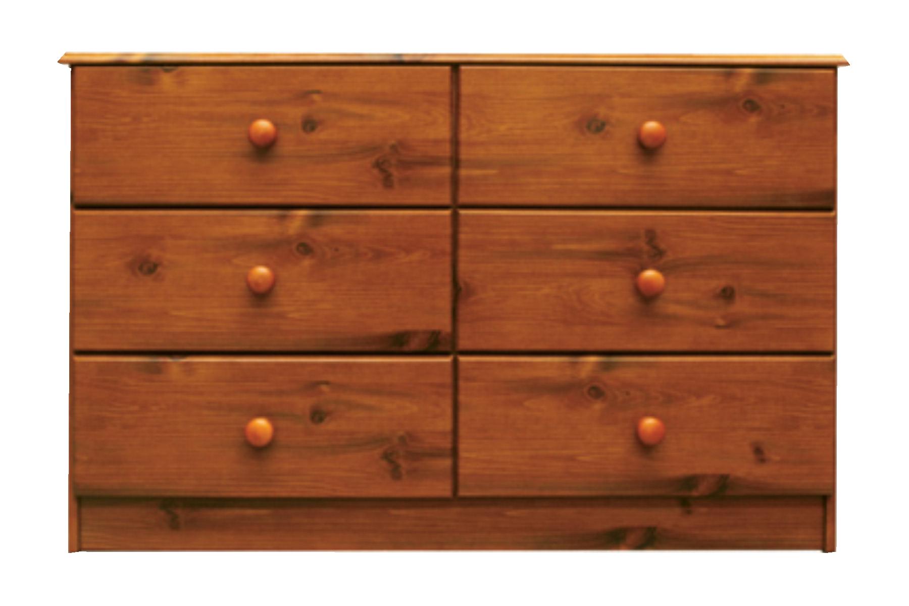 6 drawer lowboy
