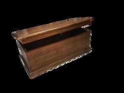 mahogany blanket box