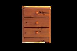 hunter hills            3 drawer bedside