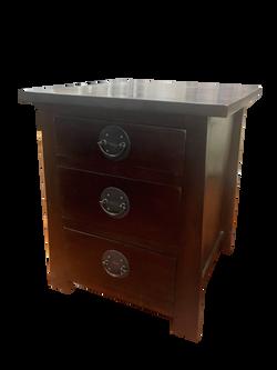 3 drawer jap bedside