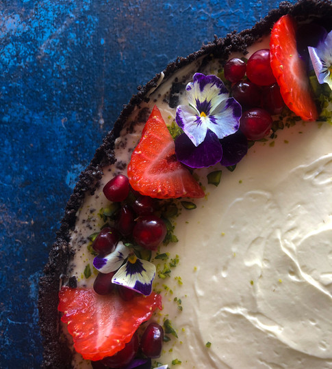 Floral Cheesecake Close Up.jpg