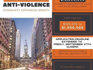 The Community Expansion Grant application deadline extended! (9/17)
