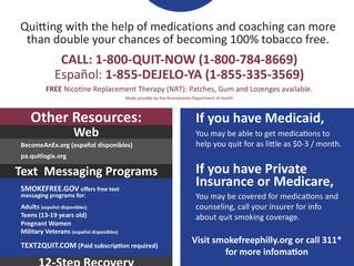 Department of Public Health Publishes List of Tobacco Cessation Resources