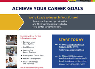 PA Career Link Publishes Updated One Pager of Resources