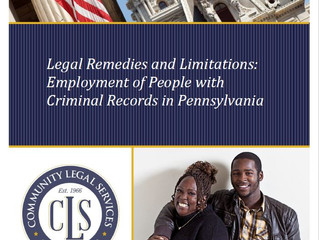 """CLS Releases """"Legal Remedies and Limitations: Employment of People with Criminal Records in Pen"""