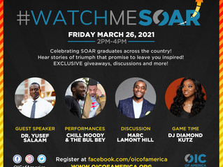 OIC of America Hosting Virtual SOAR Graduation Ceremony - March 26th