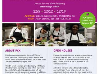 Philabundance Community Kitchen Open Houses Return