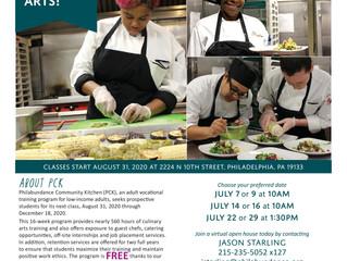 Philabundance Community Kitchen Hosting Virtual Open House Series for Free Culinary Program