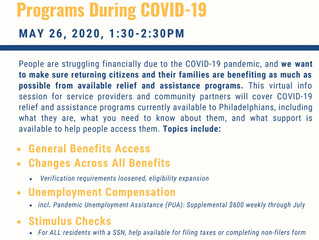 CLS and Office of Reentry Partnerships Hosting Webinar on Supporting Returning Citizens in Accessing