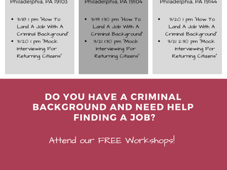Two new workshops for returning citizens are now available at PA CareerLink® Philadelphia centers!