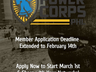 PowerCorps Application Extended Until February 14th for Program Beginning in March