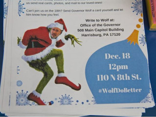 Holiday card campaign to Gov. Wolf calls for repeal of Pa.'s new prison mail policy