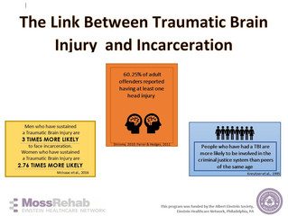 Join us to learn about the astounding link between TBIs and Incarceration!