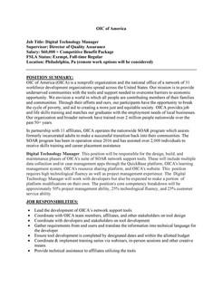 Philadelphia OIC Hiring Digital Technology Manager