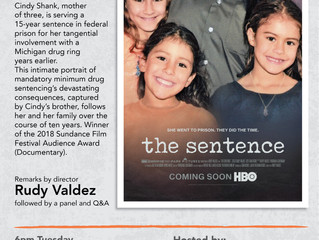 Movie Screening: The Sentence (9/25)