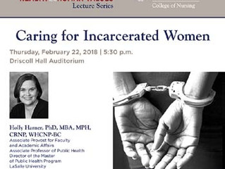 College of Nursing Lecture: Caring for Incarcerated Women