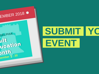 Submit Event Proposals for Adult Education Month