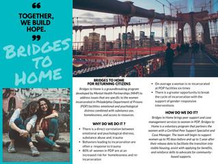Mental Health Partnerships New Program, Bridges to Home, Brings Hope to Incarcerated Women