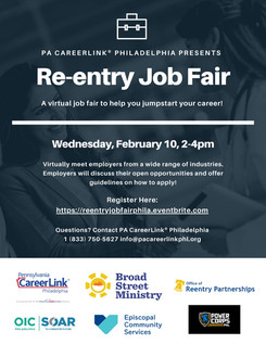 PA CareerLink - Along with Other PRC Members - Hosting Reentry Job Fair: February 10th