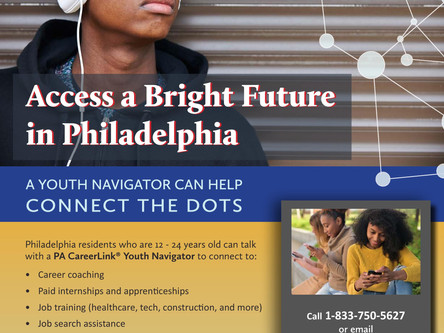 PA CareerLink Operating Youth Navigator Program, Ages 12-24