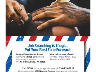 Lehigh Valley Barber School and JEVS Human Services Offering Men Free Haircuts by Appointment