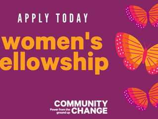 Community Change Accepting Applications for women's fellowship