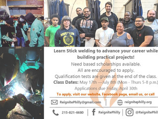 Reignite Philly Offering Stick Welding Program with Need Based Scholarship