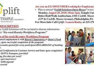 Six-week Reentry Workforce Program Info Session
