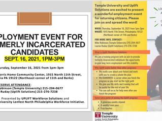 Reentry Employment Event (9/16)