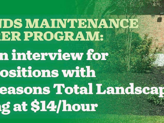 Grounds Maintenance Laborer Program Accepting Applications