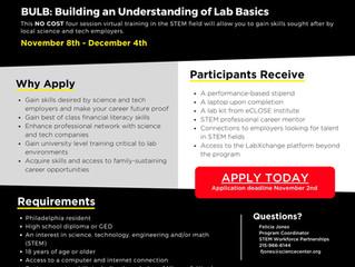 Fall 2021 BULB Workforce Cohort - Registration Open! (11/2)
