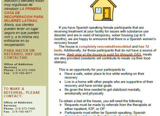 Please Share: Philly's First Spanish-Speaking Recovery House Has Open Beds!