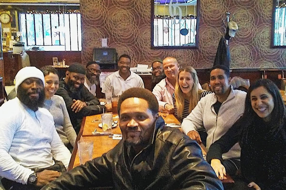 Former juvenile lifers with staff of the Youth Sentencing & Reentry Project