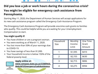 Emergency Cash Assistance Program Has Been Extended to July 12th