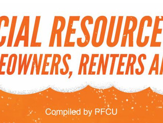 PFCU Shares Financial Resource Guide for Homeowners, Renters, and More