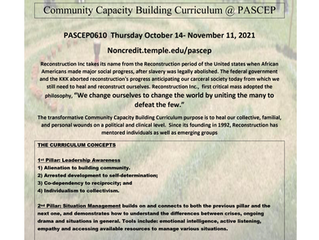 Join PASCEP for Community Capacity Building (10/14-11/11)