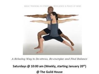 Restorative Yoga for Returning Citizens and Community Members - beginning THIS Saturday!