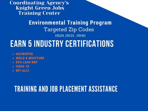 ECA & JEVS Environmental Maintenance Program Starting Monday (9/27/21)