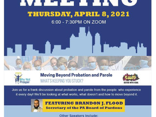Why Not Prosper Hosting Town Hall on Probation/ Parole System - April 8th