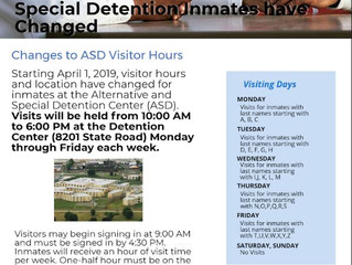 Philadelphia Department of Prisons Announces New Visiting Hours at the Alternative and Special Deten